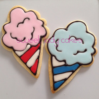 Cotton Candy Cookies For A Circus Themed Party Easy To Make Using An Ice Cream Cone Cookie Cutter   Cotton Candy Cookies for a Circus-themed party. Easy to make using an Ice-cream cone cookie cutter!