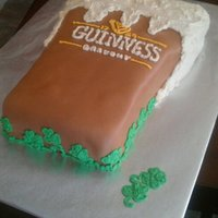 Guinness Cake For St Pattys Day......or Any Other Day ;) This is a true Guinness cake. The moist cake is an old family recipe for Guinness cupcakes with a Bailys Irish cream ganache filling...