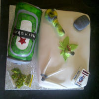 19Th Birthday Cake this cake was a special request by the girlfriend of the birthday boy, she asked for the 2 favorite things to be put on it... weed and a...