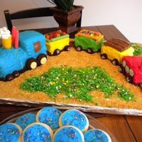 Train Cake Cake I made for Carter's 1st Birthday