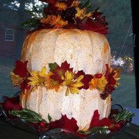 Pumpkin/fall Themed Wedding Cake Made for my oldest daughter's wedding