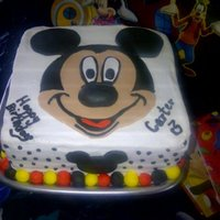 Mickey Mouse Mickey Mouse cake I made for Carter's 3rd Birthday. 1st cake using fondant.