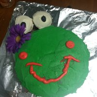 Frog Cake The mouth is messed up lol.