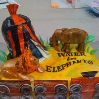 Water For Elephants I Loved the book and the movie Water for Elephants. so I decided I would make another cake with this theme.