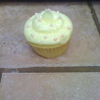Lemon Cupcake   lemon cupcake- I was practicing the SWIRL!!!