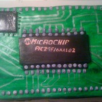 Computer Chip Cake cake for a friends boyfriends birthday. Hand painted