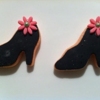 Black Heels Cookies Decorated with Black fondant