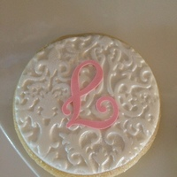 Embossed Fondant Cookies With Letter Cut With A Silhouette Cameo And An Icing Sheet Embossed fondant cookies with letter cut with a silhouette cameo and an icing sheet