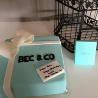 Tiffany Box Cake   Tiffany Inspired Cake with Gumpaste bow