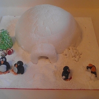 Igloo   Our 2011 christmas cake, sponge as none of us like the traditional kind.