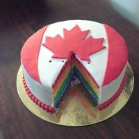 Canada Cake With 6 Different Colors Inside - *