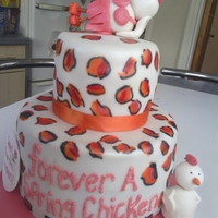 Forever A Spring Chicken Cake I made this cake for a 60th birthday. The design is from Melissa Diamond Her version of this cake is much better than mine! Hand painted...