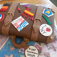Vintage Suitcase Cake Leaving cake for a travel junkie. Everything is edible and handmade