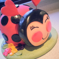 Ladybug 2Nd Birthday Cake Made this little cutie pie ladybug for another little cutie pie who turns 2 tomorrow. Thanks to all the cake central bakers for the...