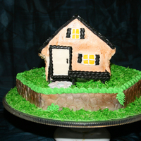 House Cake   I did this for a co-worker that just closed on a place. This was my first time doing a house cake and working with modeling chocolate.