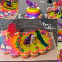 My Little Pony My friends daughter wanted a My little pony smash cake with cupcakes for everyone else, so after watching a video from this is what I ended...