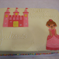 Princess Cake Frosted and decorated in buttercream
