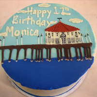 Manhattan Beach Pier Frosted and decorated in buttercream