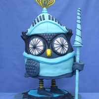 Knight Owl   My entry for this years Threadcakes competition-