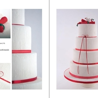 My Cake For Cake Central Magazine I was more then honored to be asked by Cake Central magazine to submit a cake. The theme was Less is More and the colors white and red. And...