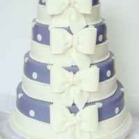 Bow Wedding Cake