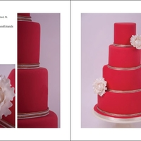 Red With White Peonies Thank you Cake Central Magazine for publishing my cake!!! The theme Less is more and the colors Red and white. Thanks for looking