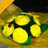 Cupcake Bouquet Lemony goodness cupcake bouquet! I no longer buy flowers for special occasions or hospital visits. I make cupcake bouquets! These were made...