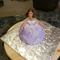 Barbie Cake Inspired by I-am-Baker, made it for my 29th birthday and my 3 year old daughter loved it.