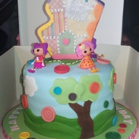 Lalaloopsy Cake Rainbow Cake for a 5th birthday