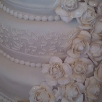 Wedding Cake With Gumpaste Roses