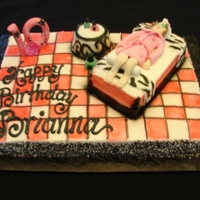 Spa Party Birthday Buttercream Cake / Gum Paste Figure