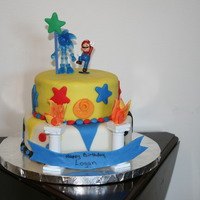 Mario And Sonci Birthday Cake