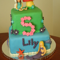 Mermaid And Fairy Birthday Cake