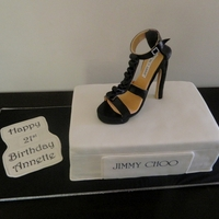 Jimmy Choo Shoe I was given this shoe and shoebox design as a pic by a customer to replicate so admittedly not my design but fun to make.