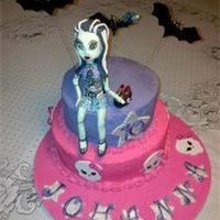 Monster High Cake With A Frankie Stein Topper