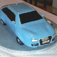 Audi Car Cake.   Car cake for a student.