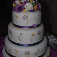 Purple English Country Garden My first 3 tier wedding cake