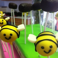 Bee Cake Pops Bee cake pops for a sorority party.