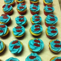 Seuss Fish Cuppies Seuss cuppies for my daughter's Seuss celebration. BC with swedish fish.