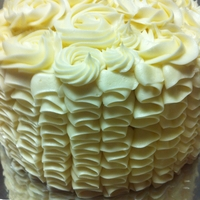 Carrot Cake W/cream Cheese Frosting carrot cake w/cream cheese frosting. ruffles and rosettes.