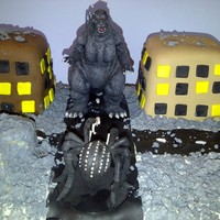 Godzilla Themed Cake For My Hubby Bottom Cake Vanilla Orange Cake With Vanilla Orange Buttercream Back Two Buildings Chocolate Orange Cak Godzilla themed cake for my hubby. Bottom cake Vanilla Orange Cake with vanilla orange buttercream, back two buildings, chocolate orange...