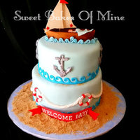 Nautical Baby Shower Cake Nautical Baby Shower Cake