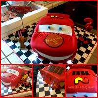 Lighting Mcqueen Cars Cake   Lightning McQueen Birthday Cake