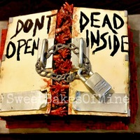 Walking Dead - Don't Open Dead Inside Birthday Cake   Walking Dead - Don't Open Dead Inside Birthday Cake