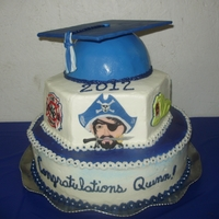 Bay Port Pirates Graduation Cake Bay Port Pirates Graduation cake