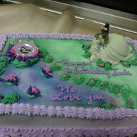 "Princess And The Frog One of my first ""theme"" cakes"
