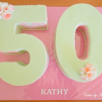 Impossible Stencilling For Kathy's 50Th Birthday