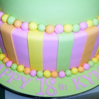 Fluorescent Birthday Cake