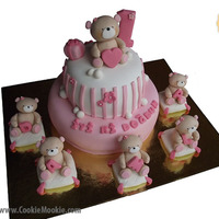 Teddy Bear Birthday Cake 1st birthday cake