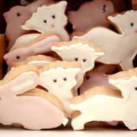 Easter Cookies Sugar cookies with royal icing. Easter themed - lambs and bunnies